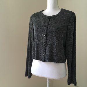 Vintage sparkle Crop Dress Jacket shrug